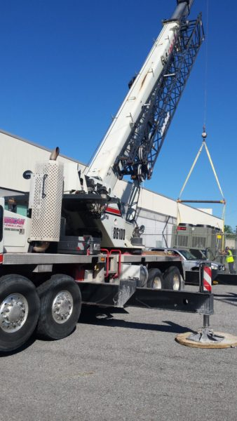 American Drilling Crane Division HVAC Chiller Install